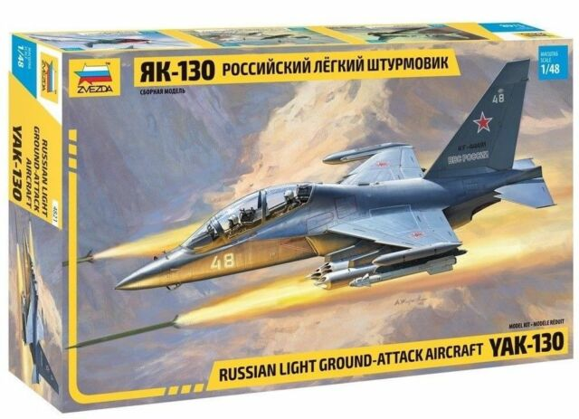 1:48 Zvezda #4821 Russian Light Ground-Attack Aircraft YAK-130  NEW !!!