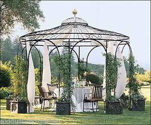 Détails sur Pavillon de massives en acier, Cabane de jardin, tonnelle,  Pavillon des roses,- afficher le titre d\'origine
