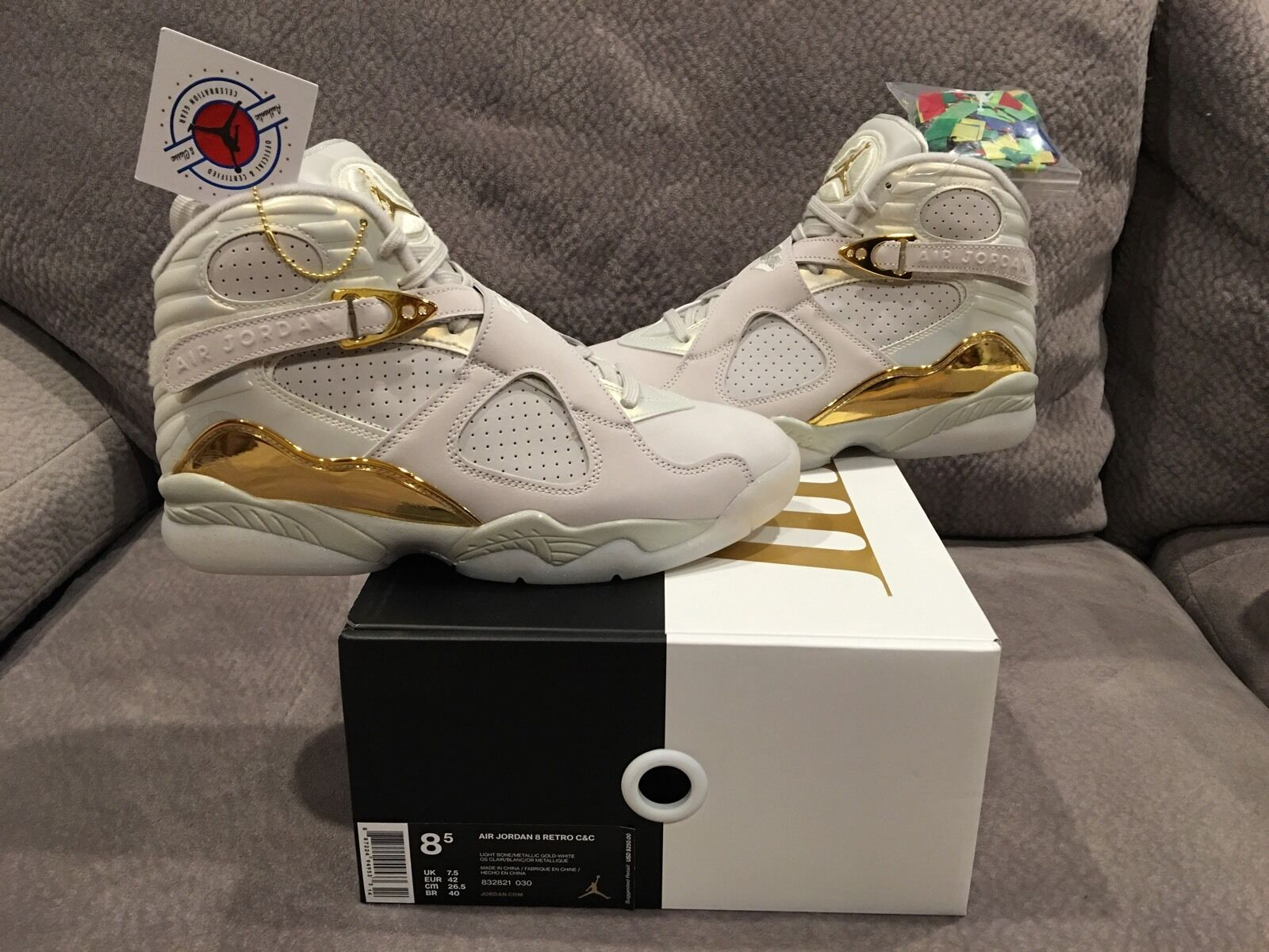 Brand new Air Jordan Retro 8 8 8 C & C rare Dimensione  In-hand New Pictures  9eb20b