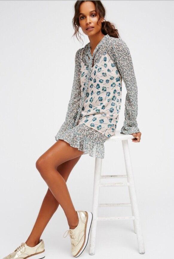Free People Dotty For You Mini Dress Two Piece Sz XS