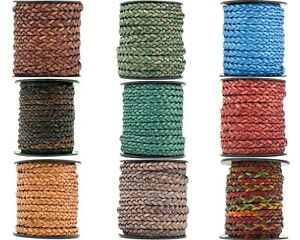 Flat Braided Leather cord