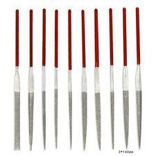 WDS 10Pcs 3*140mm Archivos de diamante Set Herramientas de reparación de joyería
