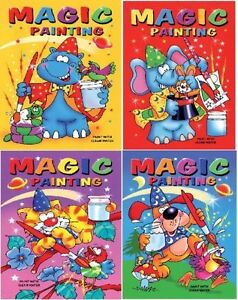 image is loading 4 x a5 magic paint with water painting - Colouring Books For Children