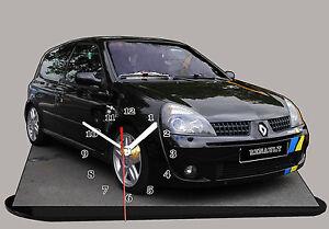 RENAULT-CLIO-SPORT-01-MINIATUR-MODELLAUTOS-RALLY-in-der-Uhr