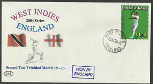 TRINIDAD 2004 WEST INDIES v ENGLAND 2nd Test Match DKS Souvenir Cover.