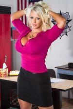Lingerie model Alura Jenson is demonstrating her new black stockings  1217229