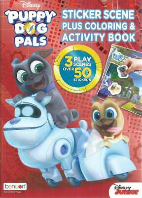 Disney Puppy Dog Pals Coloring Book With Stickers Children Girls Boys Kids Ebay