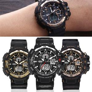 Men-039-s-Fashion-Dual-Display-Outdoor-Sport-Watch-LED-Electronic-Wristwatch-Gift