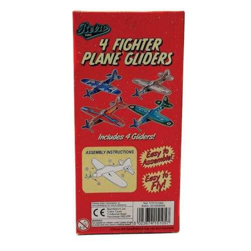 RIDLEYS RETRO FIGHTER PLANE SET OF 4 GLIDERS