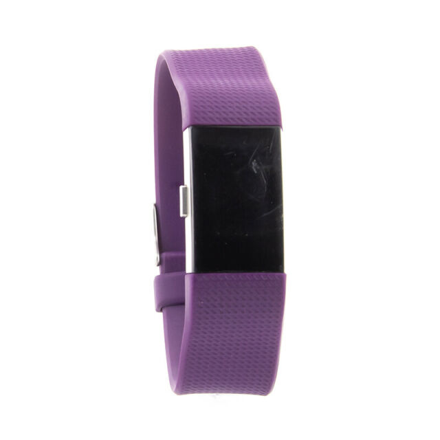 REFURBISHED FITBIT CHARGE 1 Wristband Fitness Activity Tracker Black Plum Blue