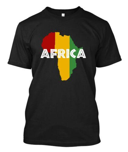 AFRICA POWER Rasta Reggae Music Logo Custom Men/'s Black T-Shirt Tee