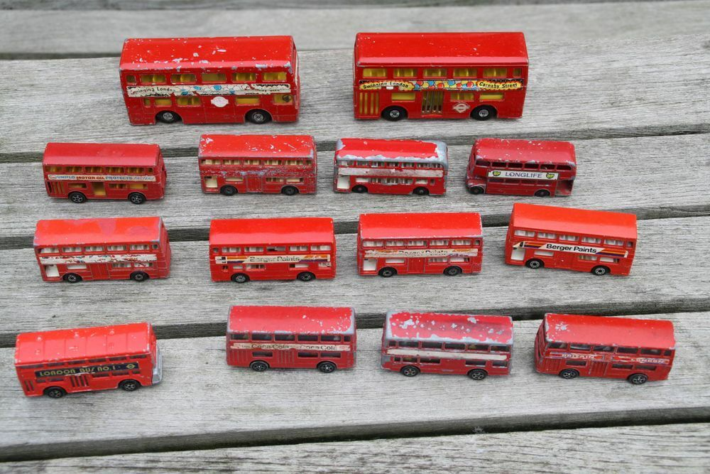 Blechspielzeug London Bus 14 X Matchbox Gorgi Juniors Matchbox Super Kings Autos & Lkw
