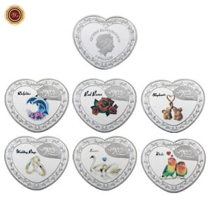 WR-999-Forever-Love-SILVER-Heart-Shape-Coin-Set-QEII-1-Romantic-Valentines-Gift