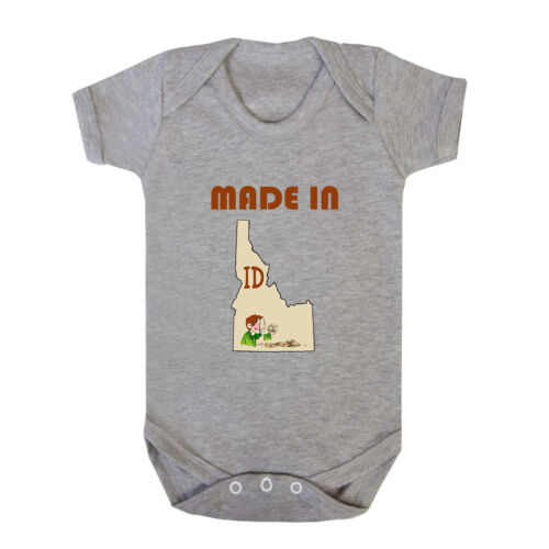 Made In Idaho Cotton Baby Bodysuit One Piece