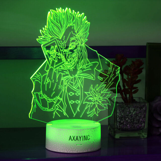 Harley Quinn Suicide Squad 3D Crystal LED Decor Night Light Table Lamp Best Gift