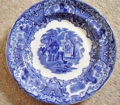 Antique George Jones & Sons England Porcelain Blue And White Plate,abbey,c.1910 Pottery George Jones