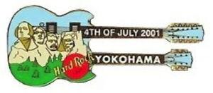 Hard-Rock-Cafe-YOKOHAMA-2001-July-4th-PIN-Mount-Rushmore-DN-Guitar-HRC-10601