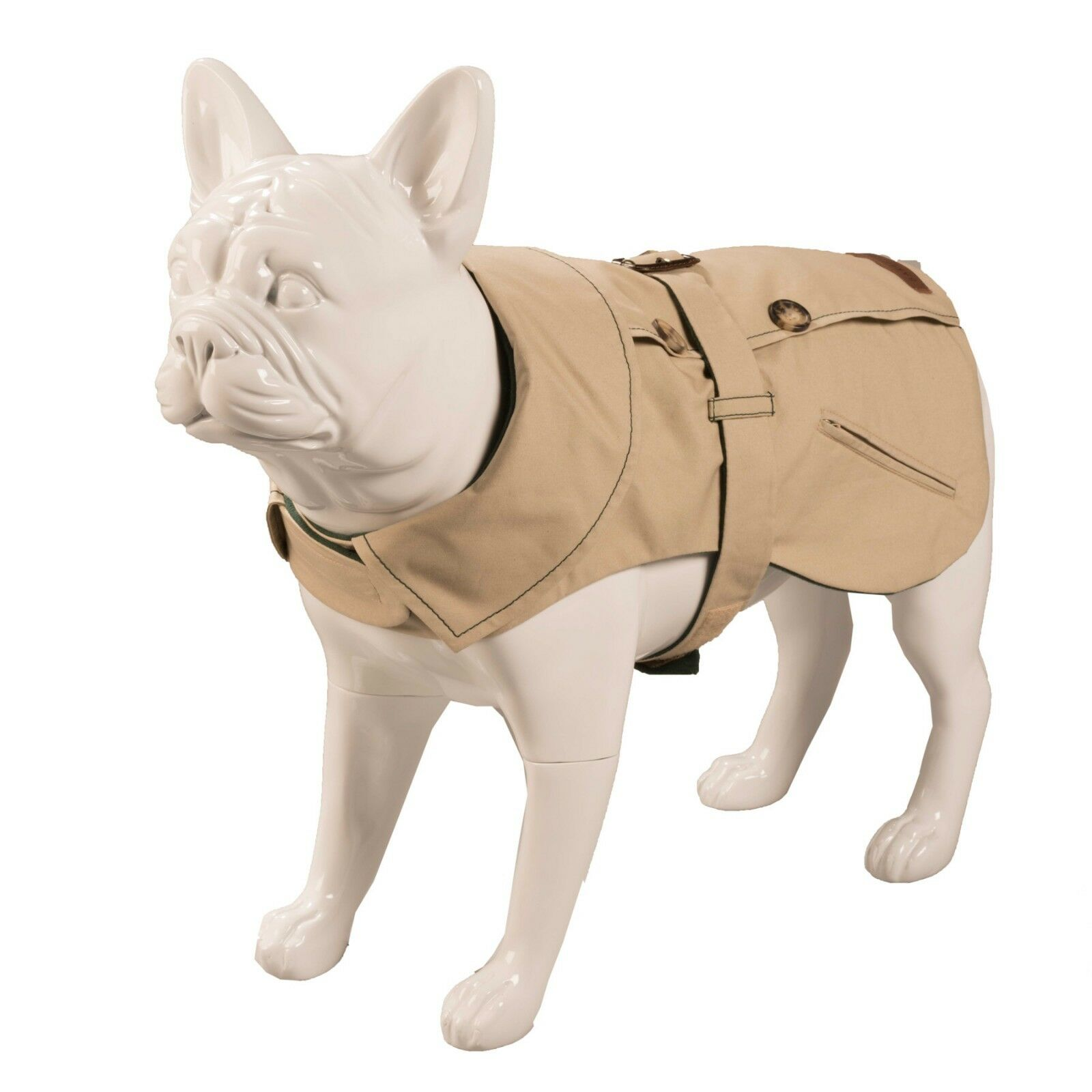 Baker and B  Kensington Trench Stone Forest Dog Coat Größe S Brand New
