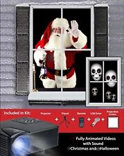 - Mr Christmas VIRTUAL HOLIDAY PROJECTOR w/Tripod + Remote + Screen