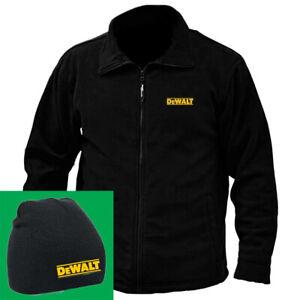 DEWALT-Embroidered-REGATTA-fleece-Jacket-PLUS-Beanie-hat-combination