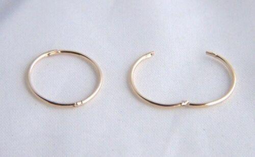 9ct oro 13mm pequeña llano con Bisagras Par de Pendientes De Aro Durmiente Niñas B /'Day Sabor