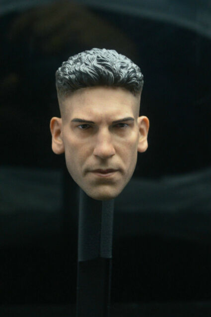 "Jon Bernthal 1//6 Sca Head Sculpt Punisher Frank Castle For 12/"" Hottoys Figure"