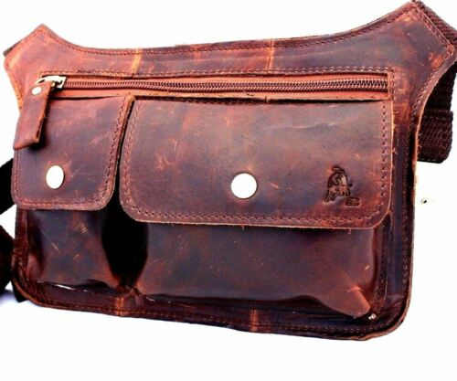 Genuine 100/% real Leather Shoulder Satchel Bag Messenger vintage man small cool