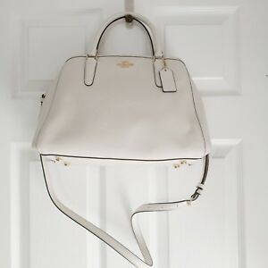 b2d184fcaed1a Image is loading New-Coach-Small-Margot-Carryall-Crossgrain-Leather-Satchel-