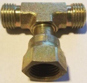 FS6600-08-08-0<wbr/>8, Face Seal, Hydraulic, Fitting, MFS - MFS - FFSX Branch Tee