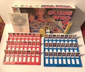 Guess Who? The Mystery Face Game MB 1987 Only Missing 2 Pegs Milton Bradley VTG