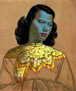 Vladimir-Tretchikoff-The-Chinese-Girl-FINE-ART-PRINT-Large-60cm-x-70cm-Rare