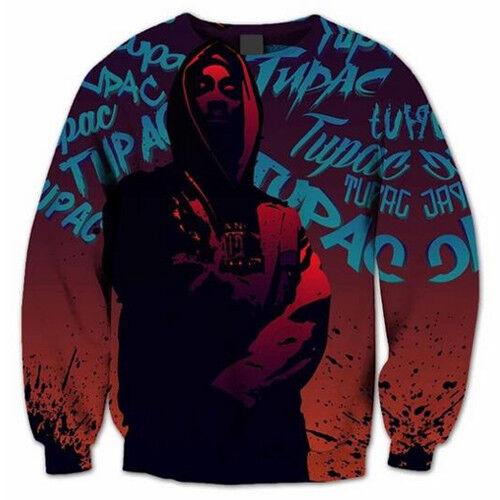 New Women//Men Hip Hop 2pac Tupac Shakur Rapper 3D Print Casual Sweatshirt Hoodie