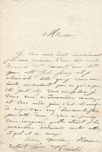 Louise MICHEL -  Lettre autographe signée à Eugène Pelletan.