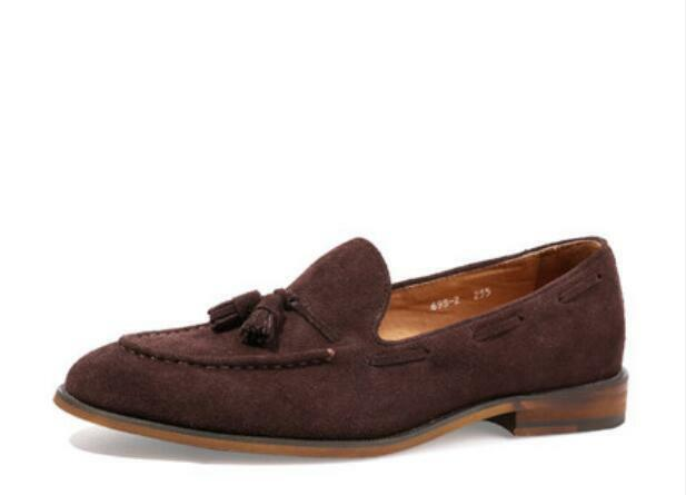 Moccasins Driving Dress Formal Casual Loafers Uomo Tassel Slip sz on Flats Scarpe sz Slip a90cf9