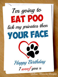Image Is Loading Funny Birthday Greetings Card Offensive Humour Cheeky Joke