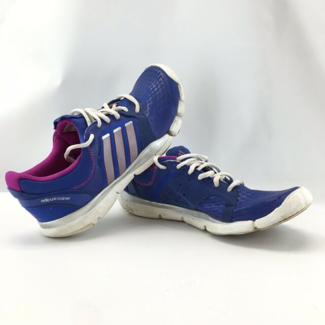 adidas Adipure Trainer 360 Women Blue Athletic Shoe Size 7.5 Pre Owned