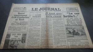 Newspapers The Journal N° 17065 Mardi 11 July 1939 ABE