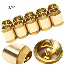 10pc 34 Dn20 Brass Bspp Thread In Line Spring Check Valve For Beverage 42x35mm