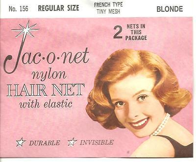 Jac-O-Net Blond franch tiny mesh elastic nylon hair net