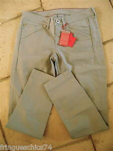 pantacourt-gris-M-amp-F-GIRBAUD-short-xbracket-T-26-34-36-NEUF-ETIQUETTE