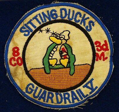 US Army 8th Co 3rd M Sitting Ducks Guardrail Theater Made Vietnam Patch C-1