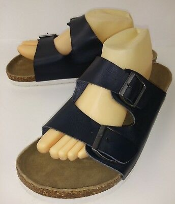 American Eagle Outfitters 6591 Mens Sandals US 11 Blue Polyurethane Slides 520