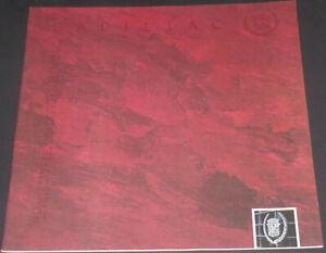 Brochure 1992 Cadillac Seville Sts, Eldorado Tc, Fleetwood !!! Vente En Ligne Du Dernier ModèLe En 2019 50%