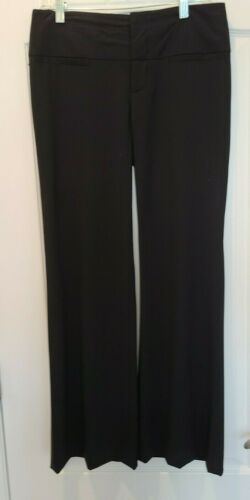 ALICE AND OLIVIA  Black Wool Blend Flare Pants - S