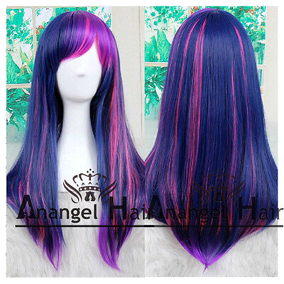 My Little Pony Twilight Sparkle Wig Tail Ponytail Costume Synthetic Full Wigs