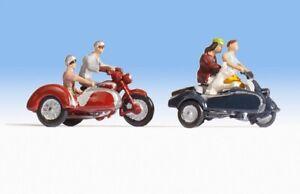 H0-escala-1-87-figuras-modelismo-maqueta-trenes-Noch-15905-Motociclistas