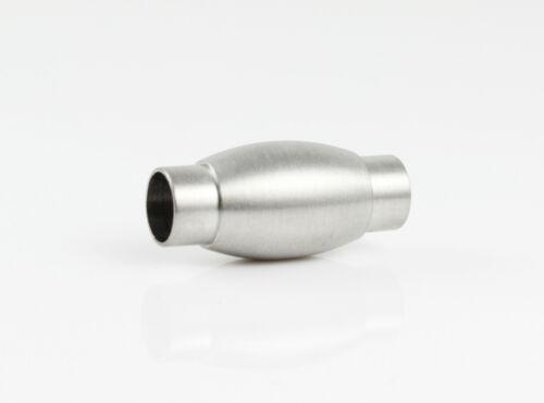 Edelstahl Magnetverschluss matt Ø 5 mm Schmuck herstellen armband