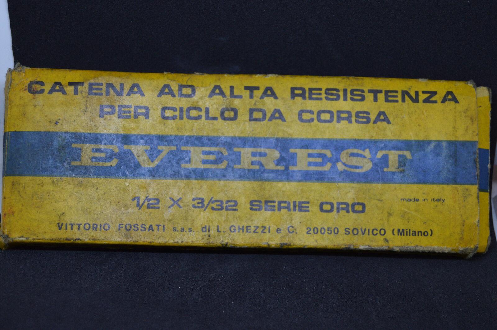 Nos Catena EVEREST Serie oro 1 2x3 32  compatibile Campagnolo Colnago Vintage