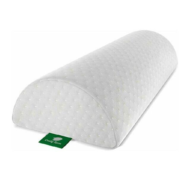 Memory Foam Half-Moon Contours Bolster Pillow Cushy Form Back Pain Relief