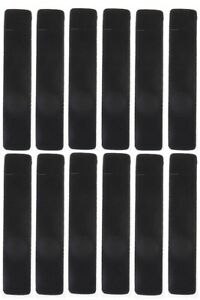 12-Velvet-Pen-Pouch-Cases-Black-Fits-Ballpoint-Fountain-and-All-Pencils-New